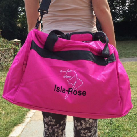 Personalised Dance Mini Holdall Bag
